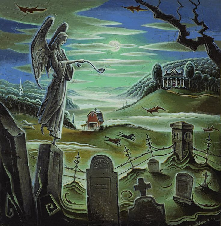 Death & the Gravedigger's Angel, Illustrated book cover by Tim Zeltner. Represented by i2i Art Inc. #i2iart