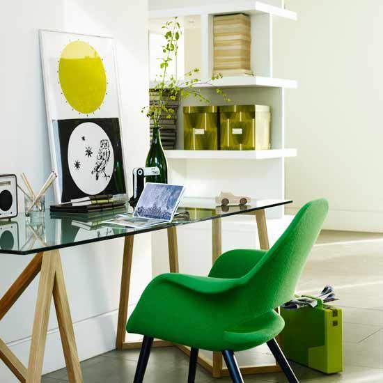 green office desk. green chair 10 inspiring modern home offices office desk