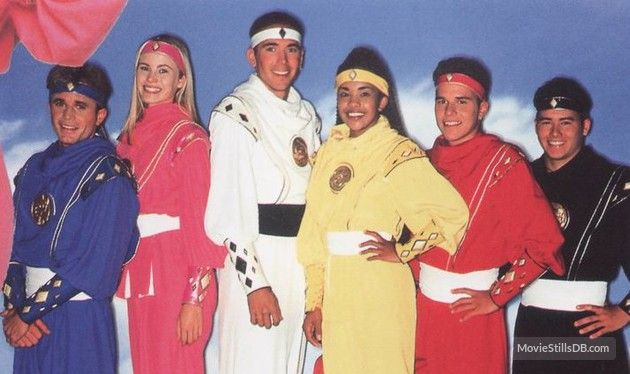 Mighty Morphin' Power Rangers - Promo shot of Steve Cardenas, David Yost, Karan Ashley, Jason David Frank, Catherine Sutherland & Johnny Yong Bosch