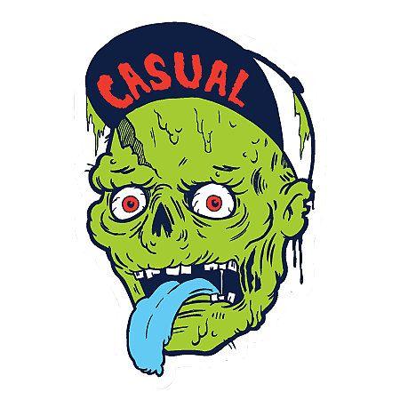 Casual industrees zombie sticker zombie illustrationstick itthe