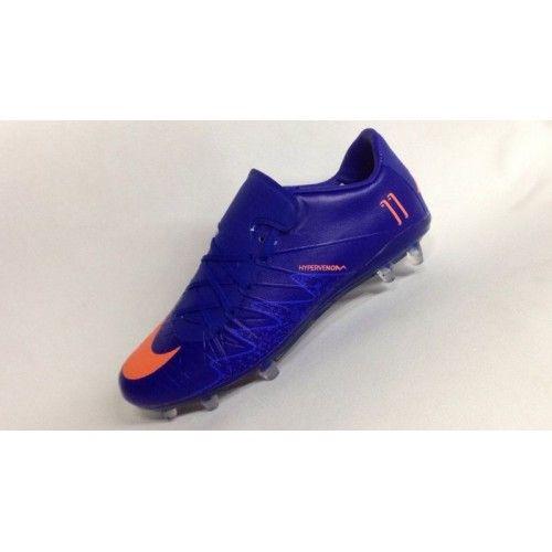 Billige Fodboldstøvler Tilbud - Bedst Nike Hypervenom Phantom II NJR TPU Bla Orange Fodboldsko