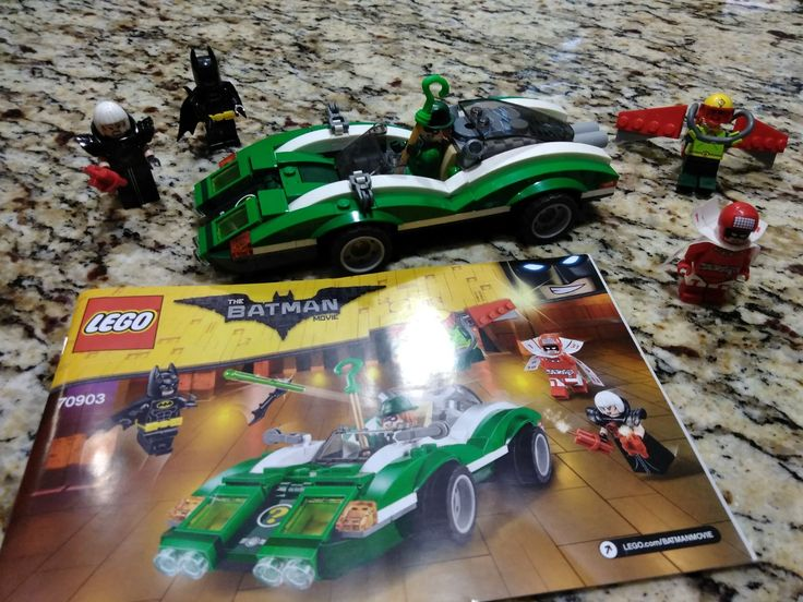 Lego Batman Riddler Car!!! Can break it down, comes with