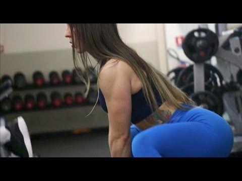 Atleta portuguesa Olena Starodubets mostra seu treino de glúteos e pernas em vídeo - Mulher Malhada