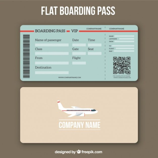 26+ Examples of Boarding Pass Design  Templates PSD, AI Free