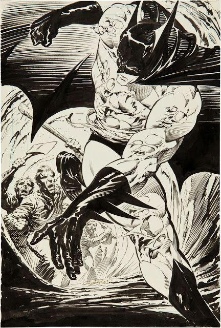 Batman: The Cult promo art by Wrightson