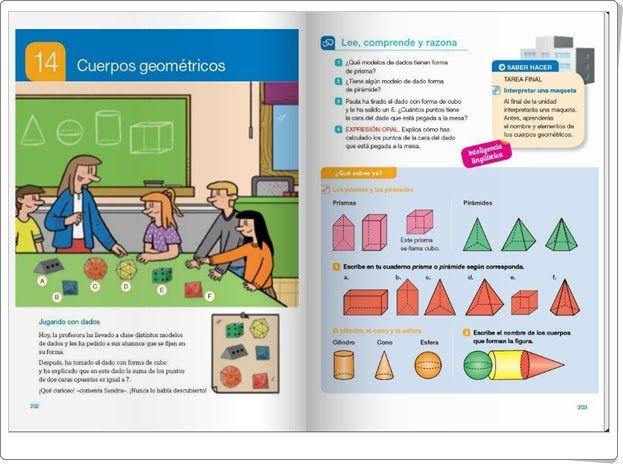 """Unidad 14 de Matemáticas de 4º de Primaria: """"Cuerpos geométricos"""""""