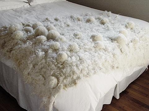 felted bedspread by Modern Fiber Lab