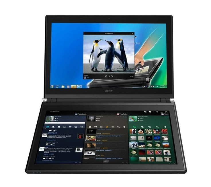 Father's Day Gift??  -  Acer ICONIA 6120 Dual-Screen Touchbook with Virtual Keyboard