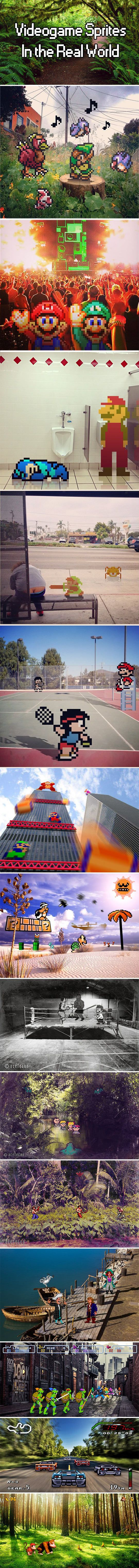 Videogame sprites in the real world…