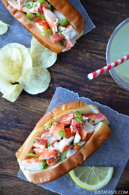 Lobster Rolls with Garlic Butter Buns- no mayo Use only fresh ingredients and whole wheat buns