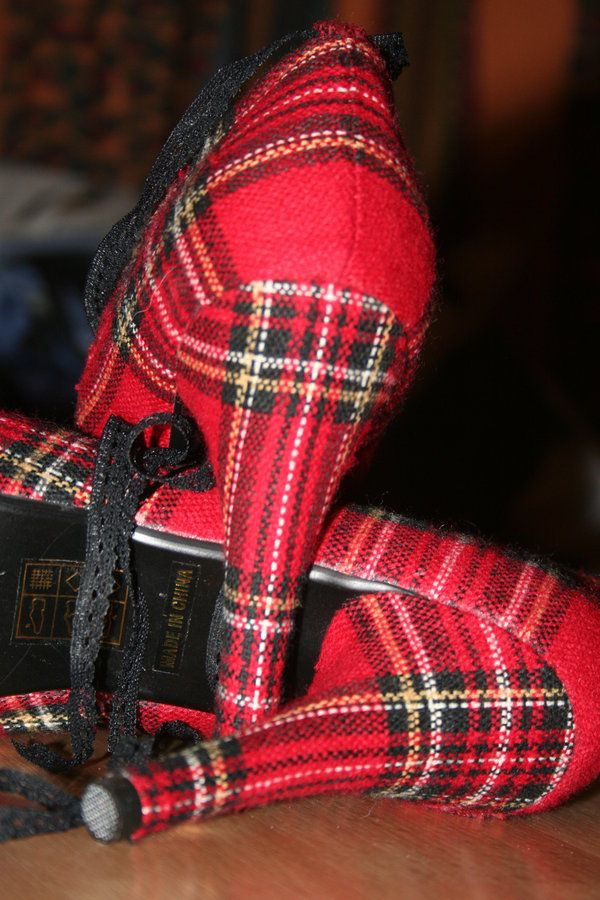tartan shoes 2 by FromHerIsMeReborn.deviantart.com on @deviantART