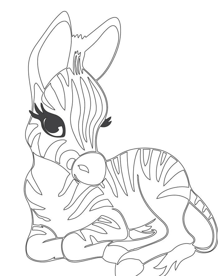 Zebra Coloring Pages For Kids In 2020 With Images Zebra