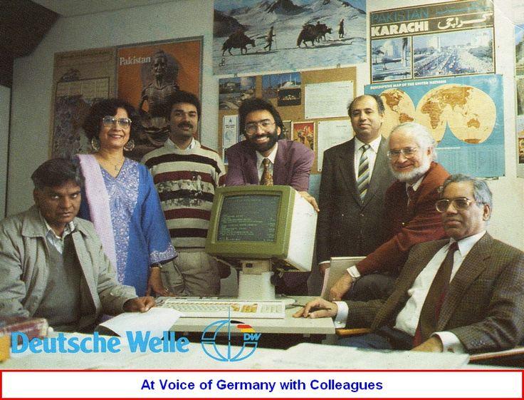 Hamid Yazdani with his Deutsche Welle, Urdu Service Colleagues