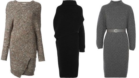 It doesn't get easier than a knitted dress; wear with a belt for the office and loose on the weekend. Stella McCartney dress, $940, farfetch.com; Acne dress, $1,050, net-a-porter.com; Fendi dress, $1,600, net-a-porter.com.