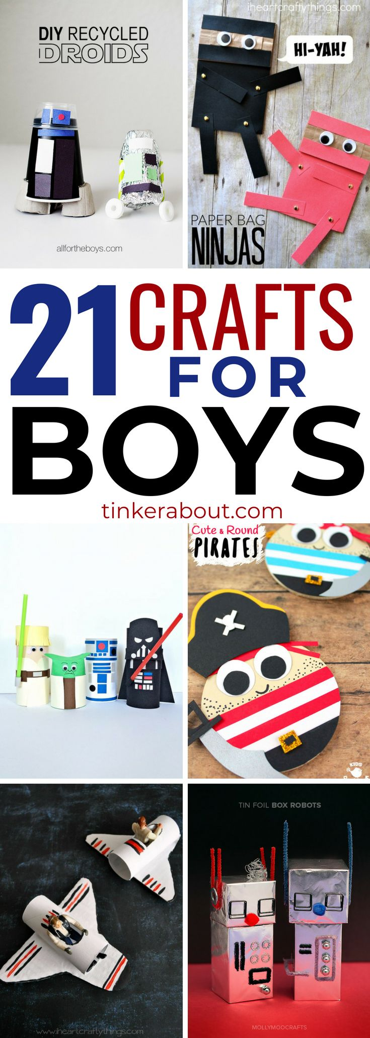 21 Clever Crafts For Boys To Make With Your Little One(s)