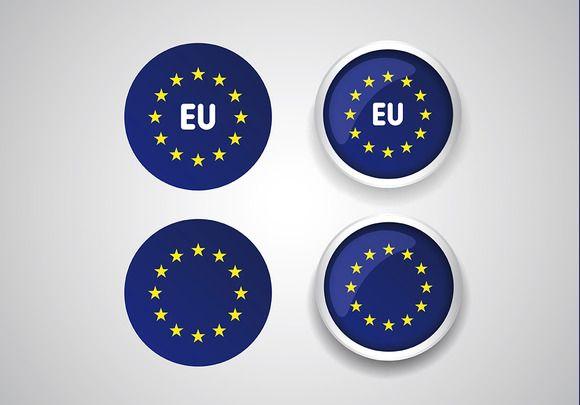 Europe flag (EU) vector @creativework247