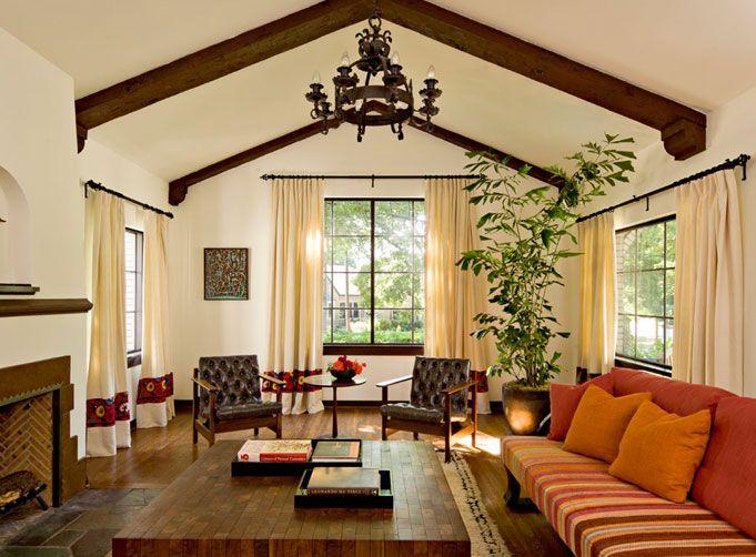 White Brick Mediterranean   Mediterranean   Living Room   Portland   By  Jessica Helgerson Interior Design