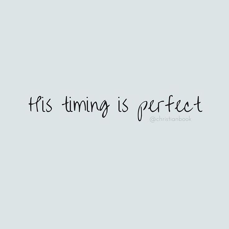 God is in control and His timing is perfect #mondaymotivation