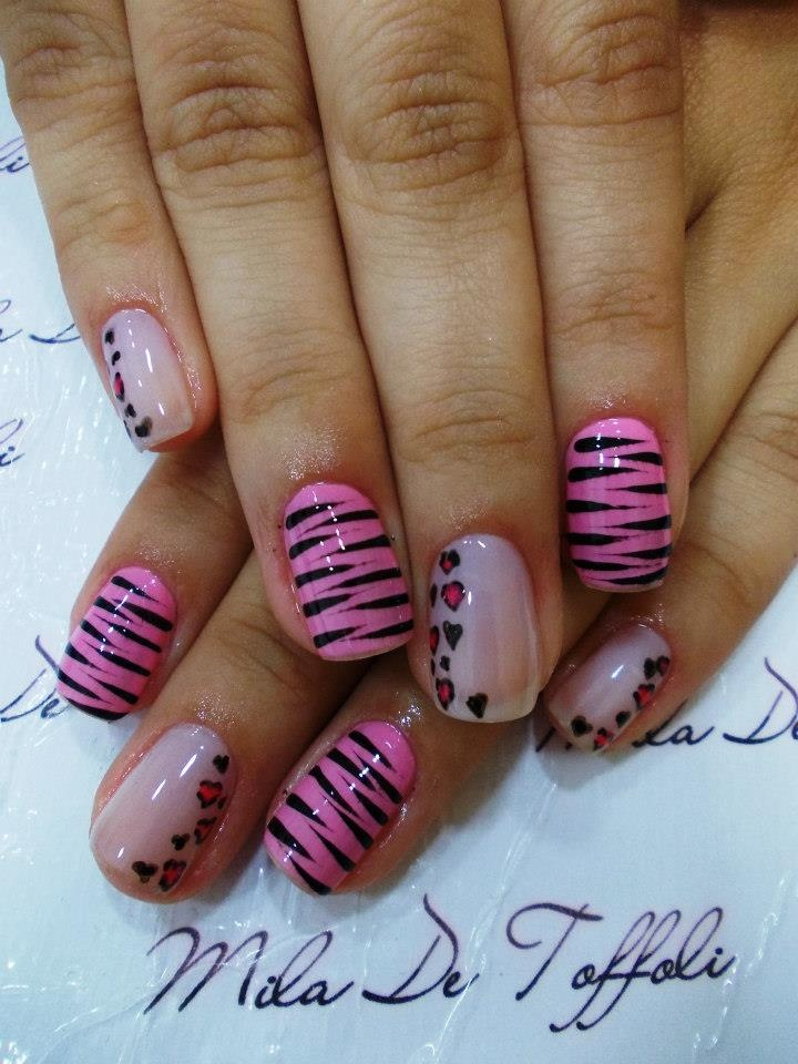 Pretty!!!Fingernails Toenails, Heart Nails, Nails Art, Dreams Nails, Fav Nails, Leopards Spots Nails, Nails Nailsart, Nails Did, Nails 3