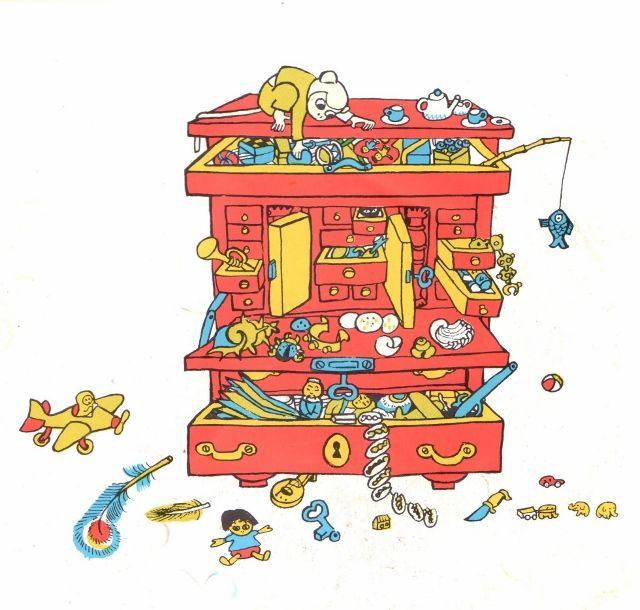 As a kid, I used to love this chest of drawers from Pippi Longstocking, might have it made for my future grandkids - Rakastin lapsena tätä Peppi Pitkätossun lipastoa, täytynee teettää tällainen tulevia lapsenlapsia varten...