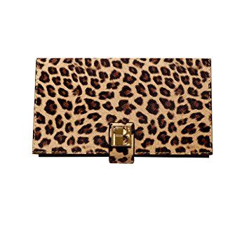 07f709892779 Wild Magnetic Makeup Clutch Handbag  Leopard Cosmetic Organizer with  Mirror