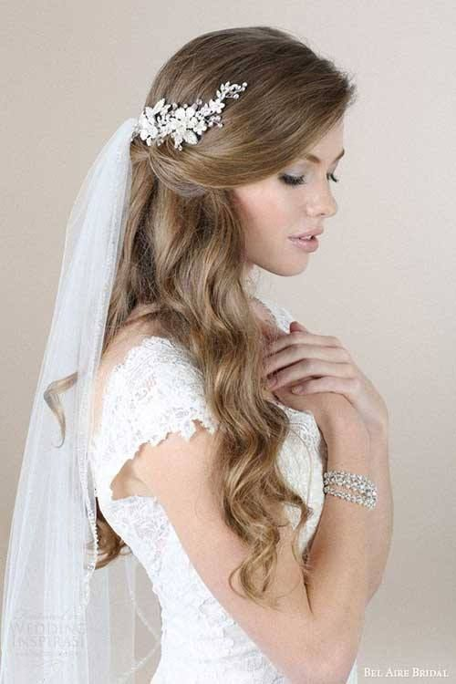 Wedding Hairstyles For Long Hair chic half up bridesmaid hairstyles for long hair 63 Perfect Hairdo Ideas For A Flawless Wedding Hairstyle With Veil Wedding Hairstyles Long Hairhairstyles