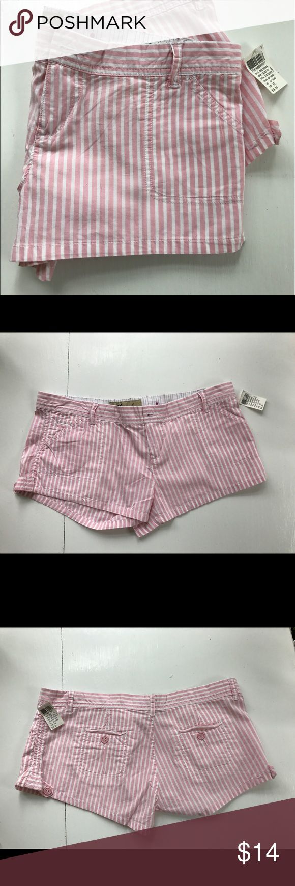 Wet seal shorts Shorts by wet seal . Light pink and white seersucker. Wet Seal Shorts