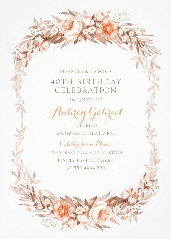 Pin On Birthday Party Invitations Birthday Invitation Templates
