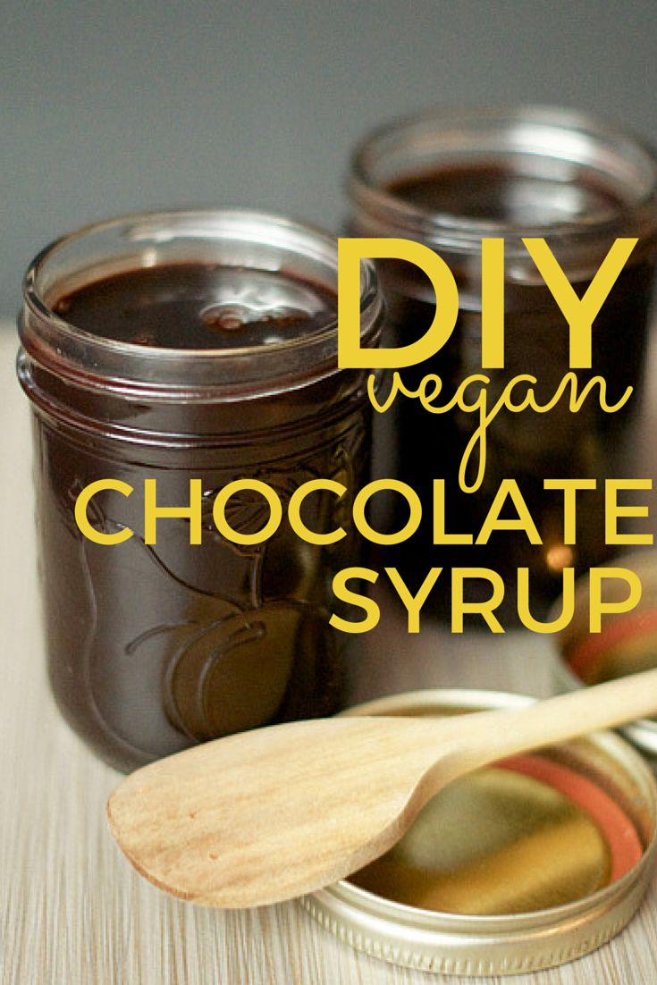 """DIY vegan chocolate syrup. Perfect for ice """"cream"""", chocolate """"milk"""", crepes, and mochas. The best part? You won't find any artificial flavours, added thickeners, or dyes in this recipe."""