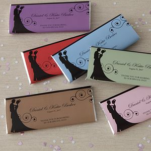 Create lasting Wedding memories with the Silhouette Personalized Candy Bar Wrappers. Find the best personalized wedding gifts at PersonalizationMall.com