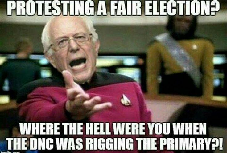 Protests a fair election. Smh