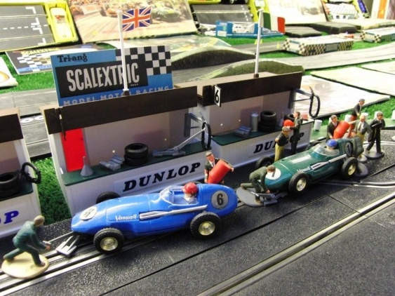 Vintage Scalextric set.