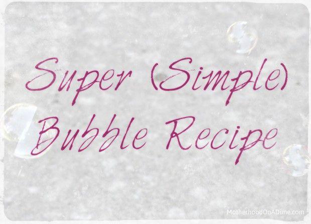 Super Simple Bubble RecipeSesame Street