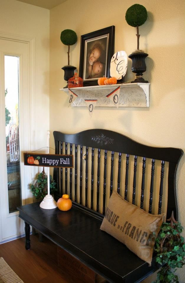 Headboard made into a bench!