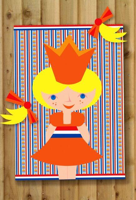 Leuke variant voor op de vrijmarkt: met Prinsesje-Prik moet je de 2 staartjes van het prinsesje op de goede plek prikken!