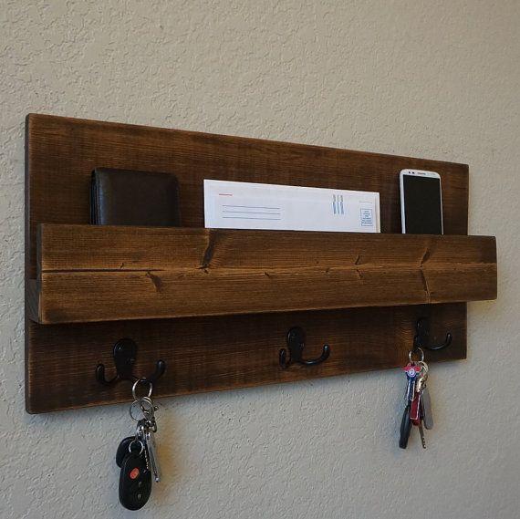 Modern Rustic Entryway Organizer by KeoDecor on Etsy