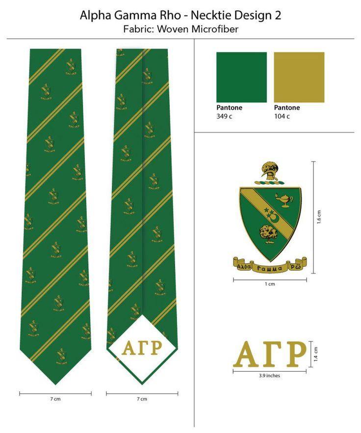 Alpha Gamma Rho Skinny Ties   | Custom Designed Ties for Fraternities