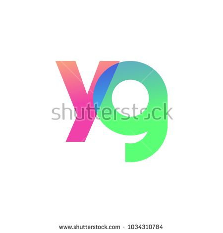 Initial Letter YG Lowercase Logo green, pink and Blue, Modern and Simple Logo Design.