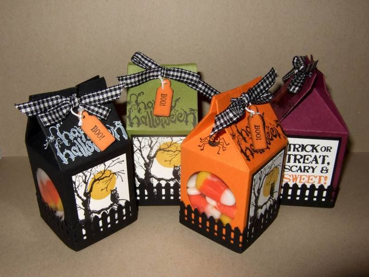halloween mini milk carton treats by bzimmer cards and paper crafts at splitcoaststampers - Halloween Cartons