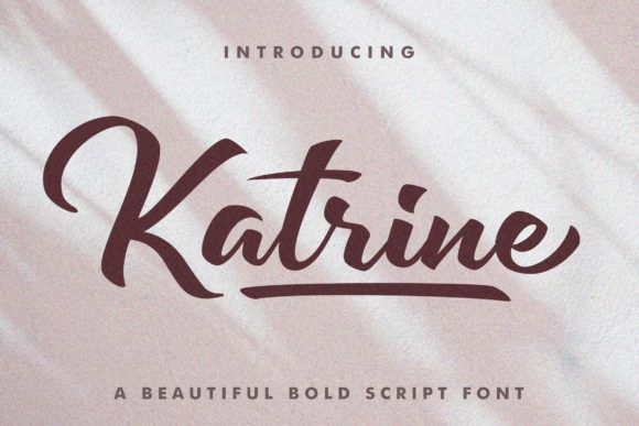 Download Katrine (Font) by Subectype · Creative Fabrica | Bold ...