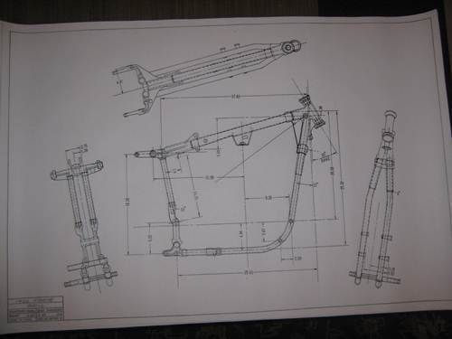 Harley Davidson Sportster Frame Print  2 Different