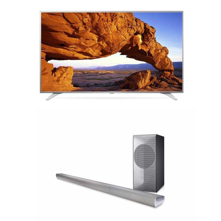 Paquete pantalla LG LED 49'' UHD SMART 49UH6500 + Barra de sonido | SEARS.COM.MX - Me entiende!