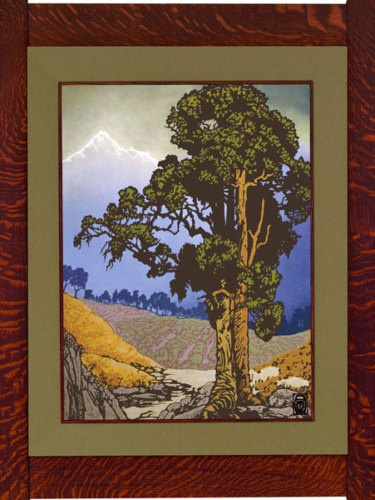Unframed anita munman valley canvas giclee mission style for Mission style prints