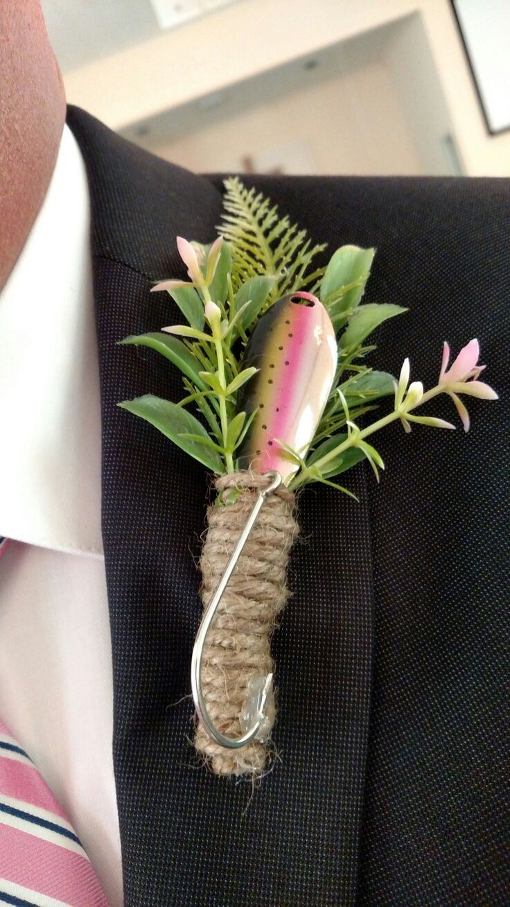 Boutonniere made from fishing spoons