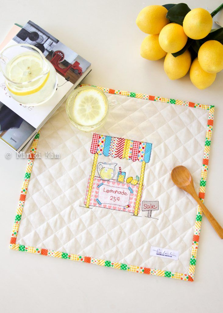 Minki's Work Table   Sewing Illustration