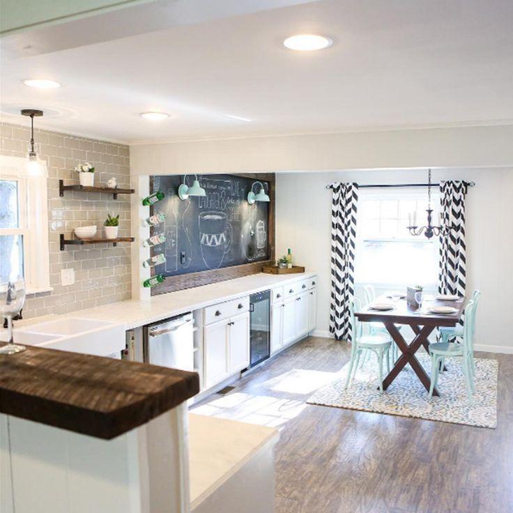 Jeffrey Court Crisp Linen Subway Tile In Kitchen