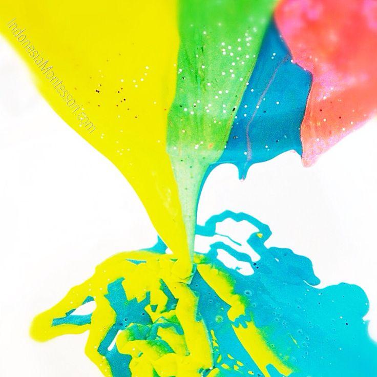 Ide Permainan Anak : DIY Ooey Gooey Rainbow Fun