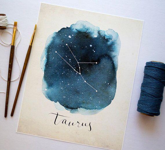 Birthday card design for a Taurus birthday