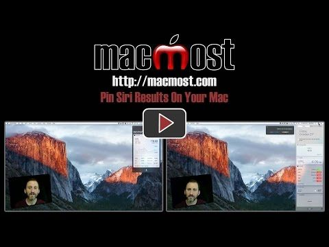 MacMost Pin Siri Results On Your Mac