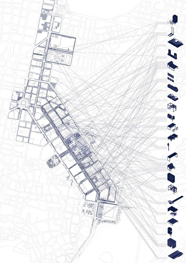 Re-Think Athens Competition Entry / Gianmaria Socci Architecture + Also Known As Architects + Alkistis Thomidou  Masterplan legend
